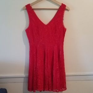 Express Red Lace Dress Size 10